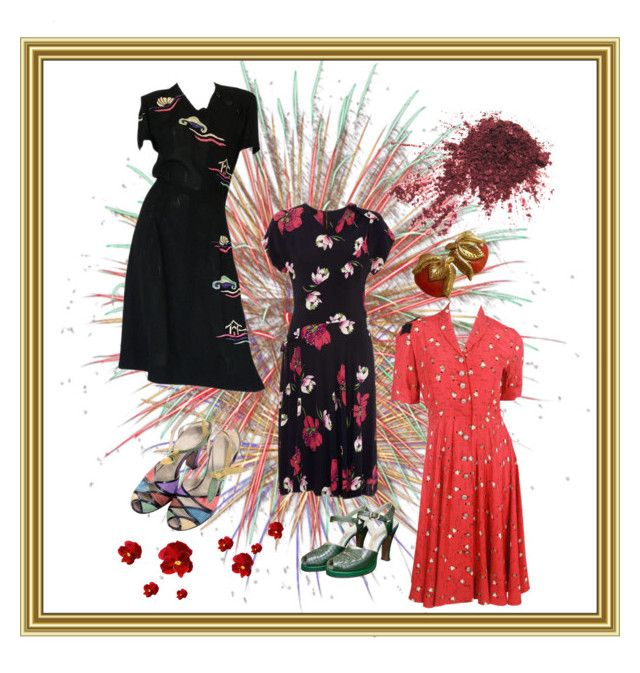 """""""1940s day dresses❤️"""" by christina-63 on Polyvore"""