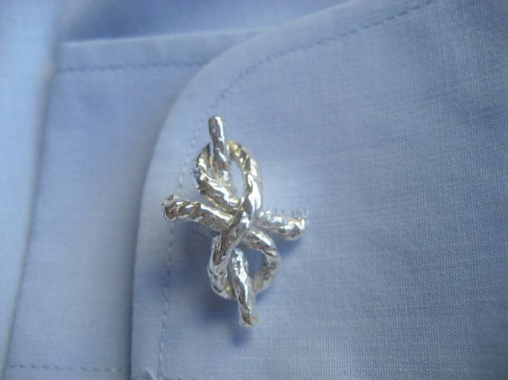 A personal favourite from my Etsy shop https://www.etsy.com/listing/230568778/silver-cufflinkshandmade-cuff-linksknot