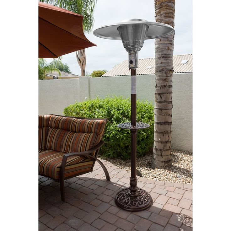 az patio heater hiland cast aluminum natural gas patio heater fromu2026 - Natural Gas Patio Heater