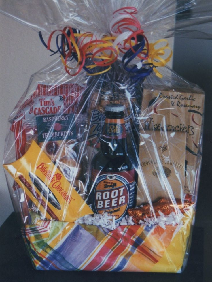 Gourmet Gift Basket-Box filled with gourmet goodies! options on tissue and ribbon. This box supports Northwest products.