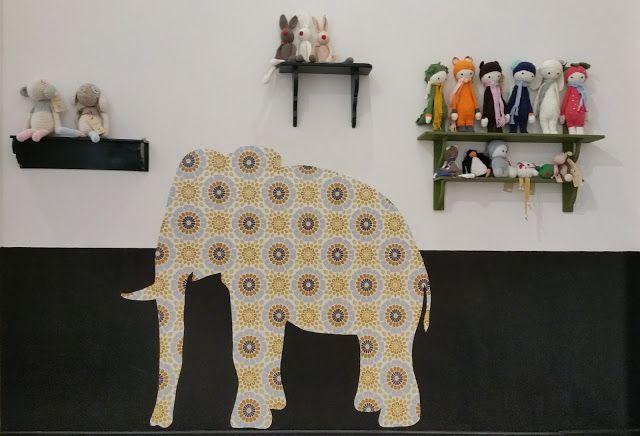 Behang Kinderkamer Zebra : Meer dan 1000 ideeën over Olifant Behang ...