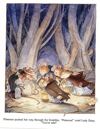 """Primrose pushed her way through the brambles. """"Primrose!"""" cried Lady Daisy, """"You're safe!"""""""