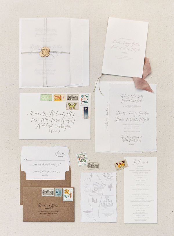 vintage country garden wedding invitations%0A Brita and Richie u    s Stunning Pacific Northwest Wedding by O u    Malley  Photographers   An elegant