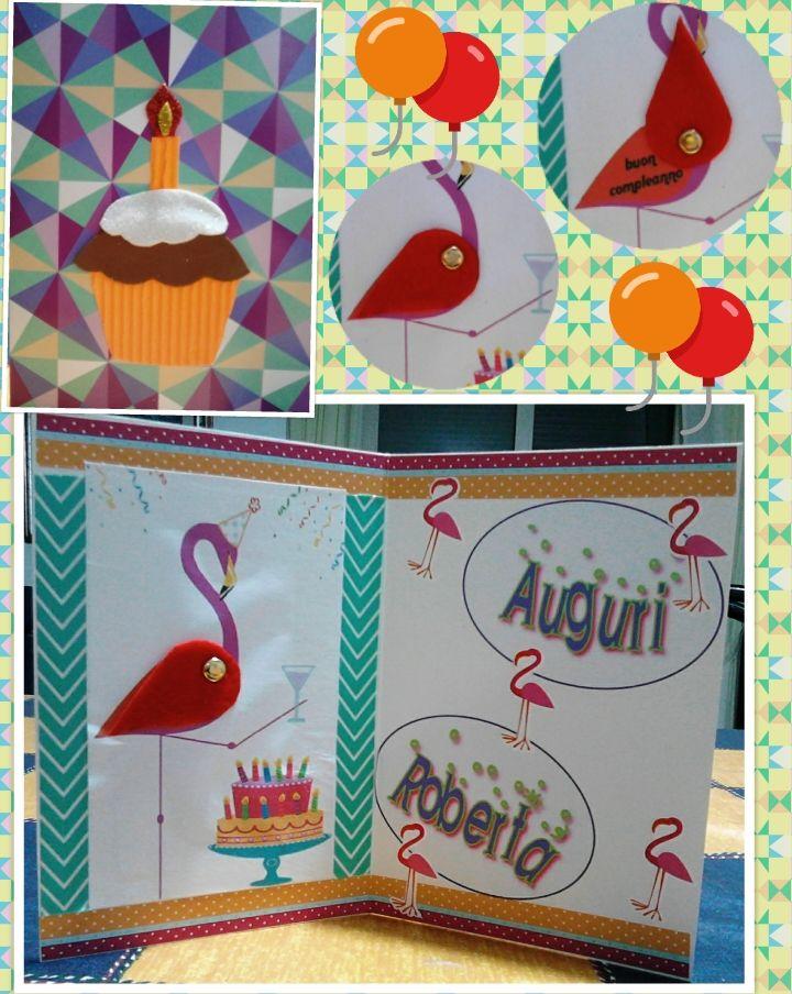 compleanno fenicottero torta brindisi
