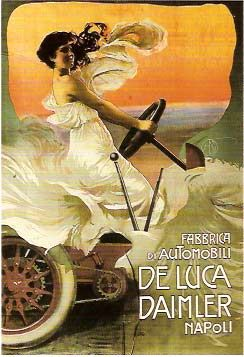Vintage Italian Posters ~ #Italian #vintage #posters ~ Mario Borgoni, Fabbrica di Automobili De Luca Daimler