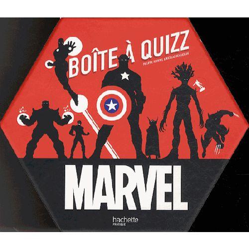 Boîte à Quizz Marvel : Une boîte de jeu pour tous les nouveaux fans de l'univers Marvel via les films et pour tous ceux qui sont tombés dans les comics dès leur plus jeune âge ! #cadeau #noel