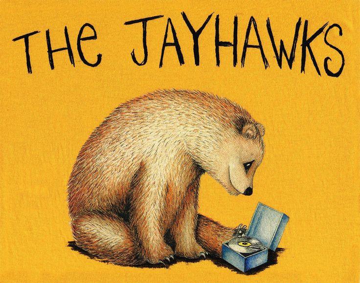 Camiseta para la gira europea 2014 de The Jayhawks / Serigrafía tradicional CMYK tintas. The Jayhawks European tour 2014 t-shirt / Traditional screenprinting CMYK Process.  #serigrafia #screenprinting #cmyk #thejayhawks #tshirt #camiseta #oso #bear