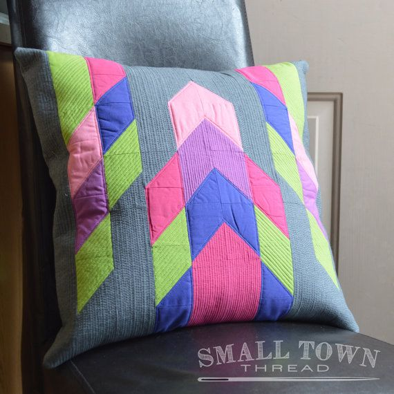 Modern Tribal Pillow Pattern by SmallTownThread on Etsy