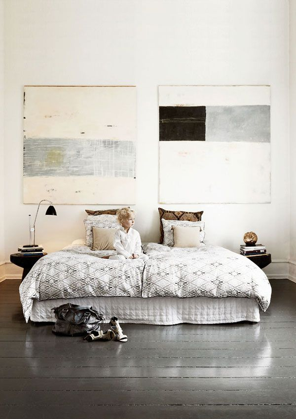 A stunning house filled with souvenirs from around the world | NordicDesign. Bedroom. Art. Decor. Design. Home.