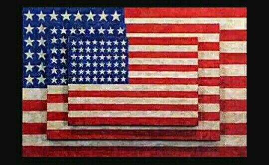 223. Jasper Johns, tre bandiere 1958 m 0,78x1,15 encausto tela Meriden (Connecticut), Collezione Burton Tremaine
