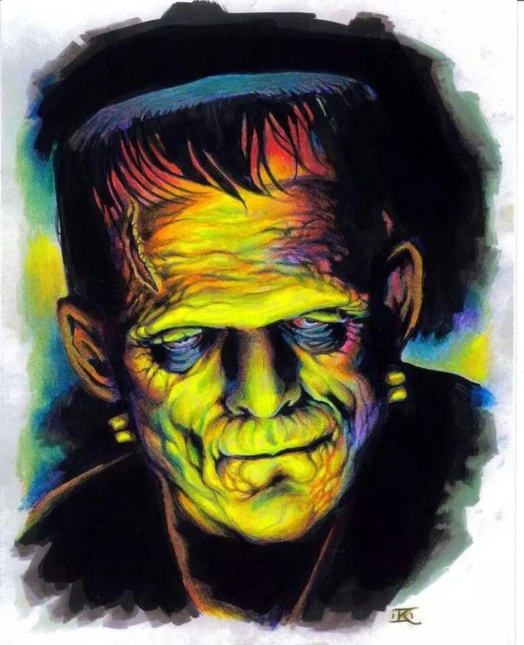 Frankenstein, omg, I love the use of color in this one....awesome