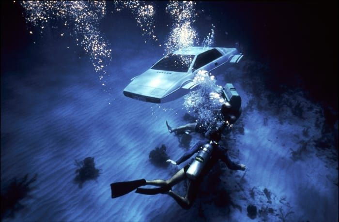 We had to exercise some self-control in order not to make the whole list just James Bond cars, but we managed to keep it to two. Bringing it in at #8 is the Lotus from The Spy Who Loved Me because, look, it turns into a freakin' submarine. So... there's that.
