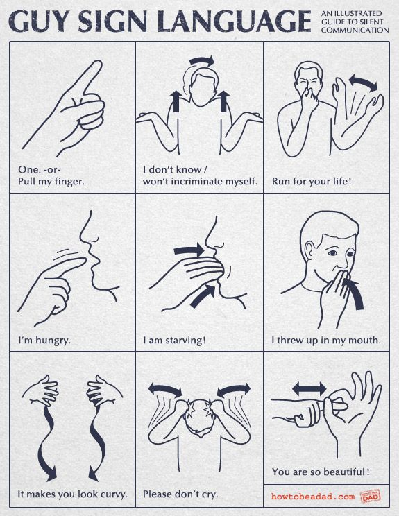 Guy Sign Language | Sign language, Language and Humor