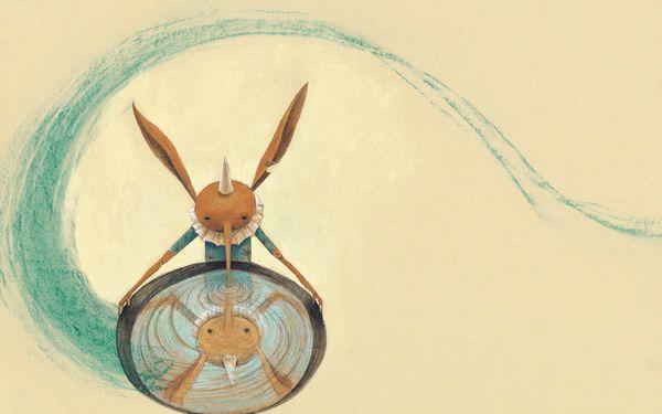 "Eva Montanari illustration for ""Pinocchio""."