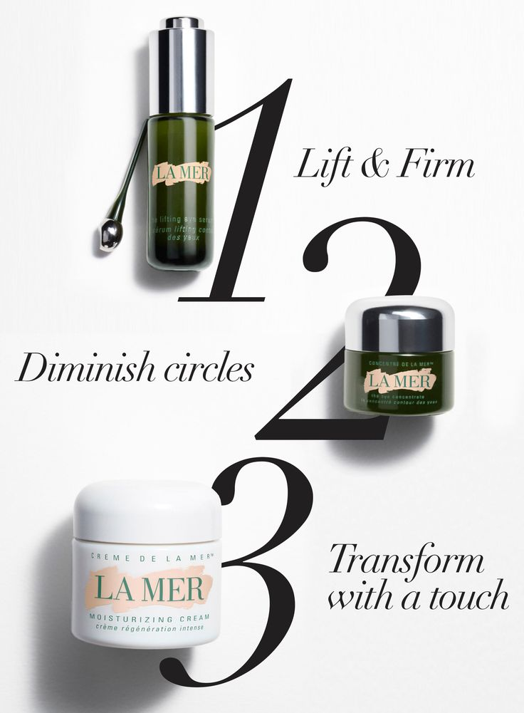Discover three steps to ageless with The Lifting Eye Serum, The Eye Concentrate, and Creme de la Mer. http://lamer.co/LES