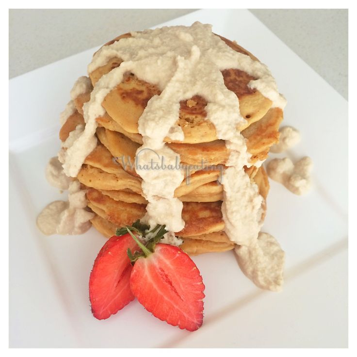 It's day 4 of our #healthykidscommunity #dairyfree cooking challenge and my turn to share a delicious recipe using a milk alternative! .  So I've made some yummy COCONUT PANCAKES using coconut milk with a CASHEW CREAM DRIZZLE ❤ . . .  RECIPE - COCONUT PANCAKES   Mix the following together: ▶️3/4 cup of flour ▶️1/4 unsweetened desiccated coconut ▶️1 tsp baking powder ▶️2 eggs ▶️Pinch of salt ▶️2 Tbsp coconut sugar ▶️1/2 cup of coconut milk .  Leave it to rest for about 30min - 1 hour. Then…