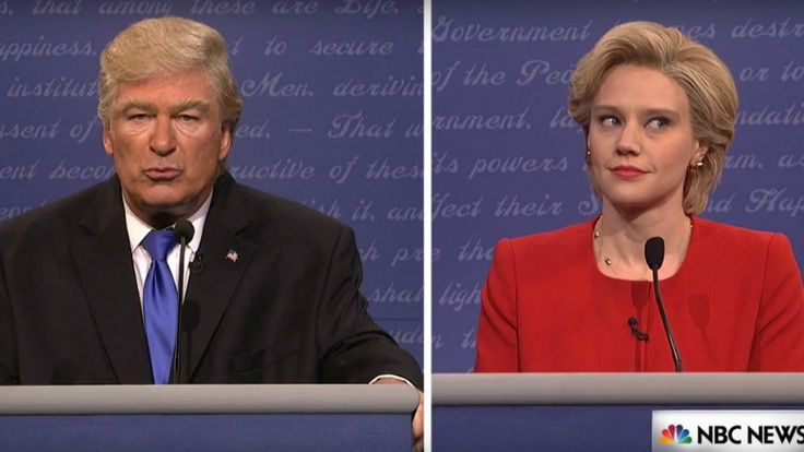 The Trump and Hillary SNL Skit vs. the Actual Debate is Spot On