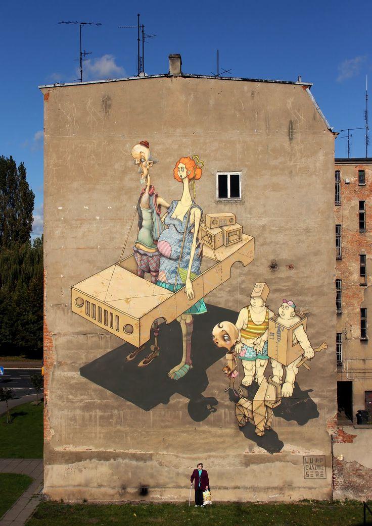 By Sepe, Lump and Chazme718 in Szczecin, PolandInspiration Wall, Street Artists, Studios Art, Street Art Utopia, Urban Art, Gallery Wall, San Francisco, Art Painting, Streetart