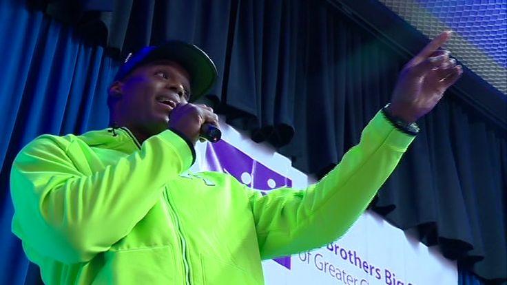 Cam Newton surprises Big Brother Big Sister party | WCNC.com Charlotte
