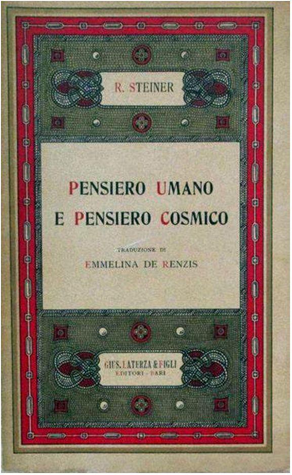 Pensiero Umano e Pensiero Cosmico - o.o. 151 (Rudolf Steiner) - copertina originale