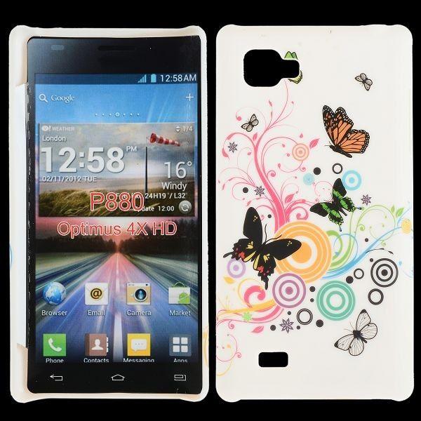 Valentine (Värikkäät Ympyrät & Perhoset) LG Optimus 4X HD Suojakuori