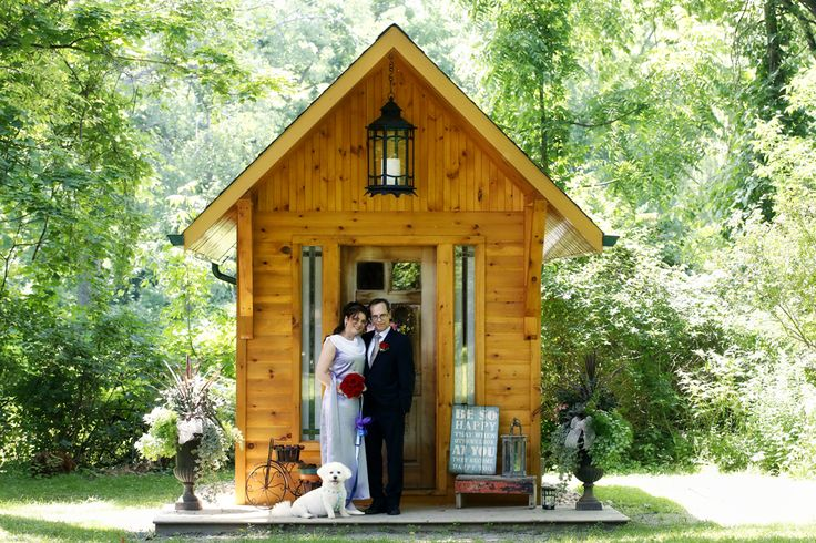 Dogs Are Welcome At The Little Log Wedding Chapel In Niagara For Elopements And Intimate Rustic
