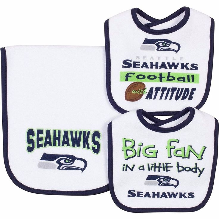 gerber nfl seattle seahawks infant baby accessories 2 bibs u0026 burp cloth set