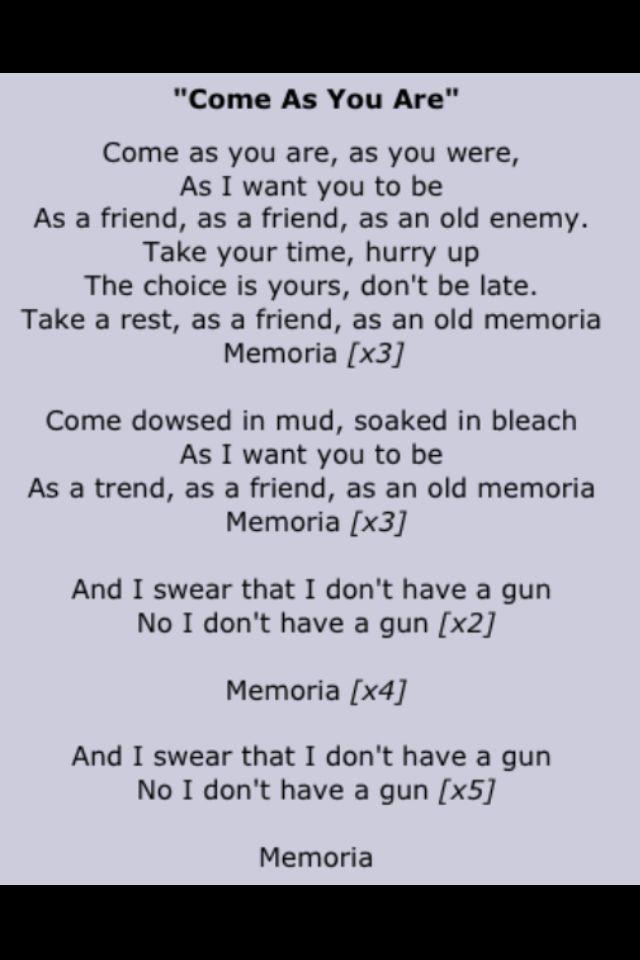 Lyrics to an alternative rock song? | Yahoo Answers