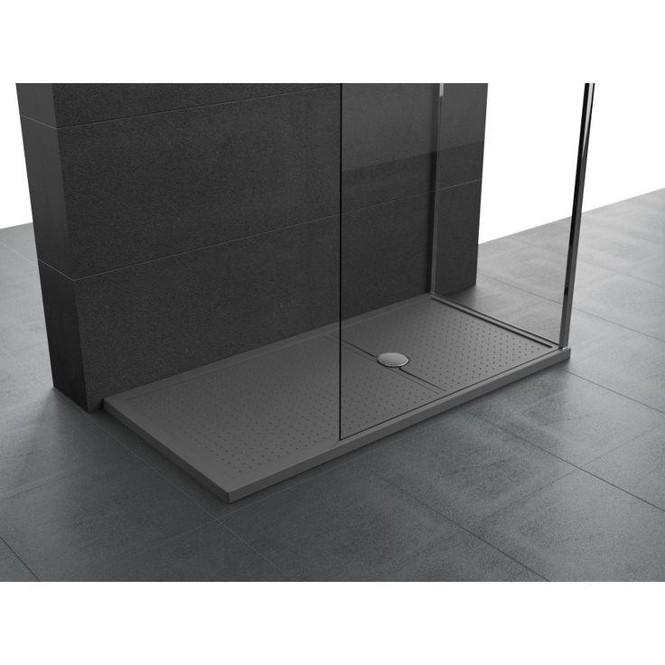 Novellini Olympic Plus douchebak acryl rechthoekig 140x100x12.5cm incl. poten en sifon grijs - OL140101129 - Sanitairwinkel.nl