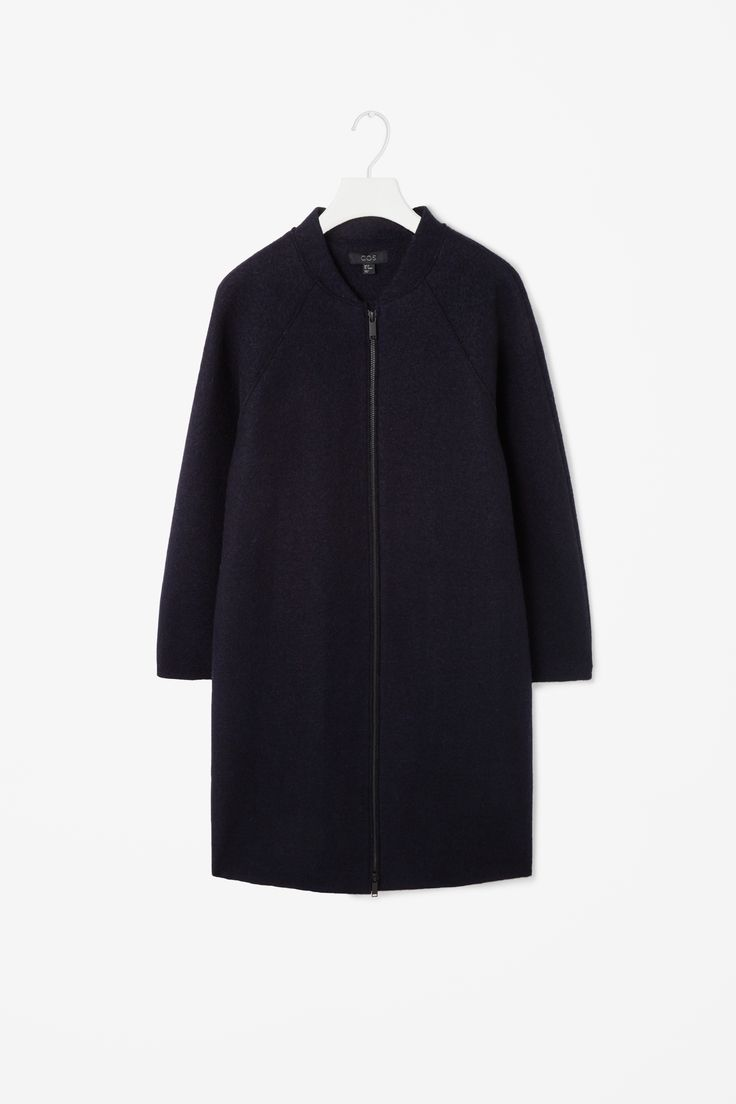 Raw-cut wool coat