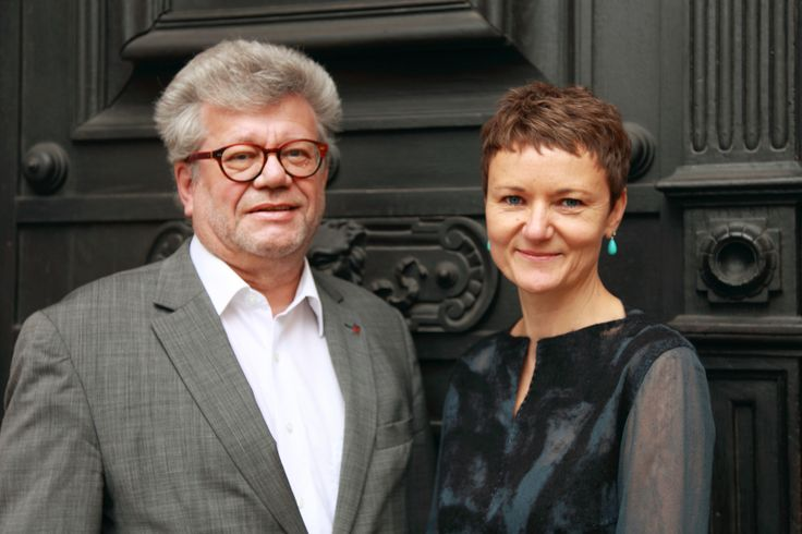 "We welcome a new team of directors at ""Oberösterreichisches Landesmuseum"": Dr.in Gerda Ridler - research director and  Dr. Walter Putschögl - director of administration."
