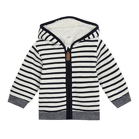 J by Jasper Conran Baby boys' white striped zip-up hoodie | Debenhams £15