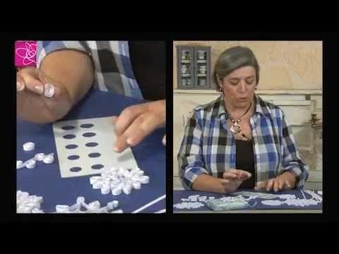 Quilling - matériel et initiation débutants aux motifs en papier roulé ou paperolles - YouTube