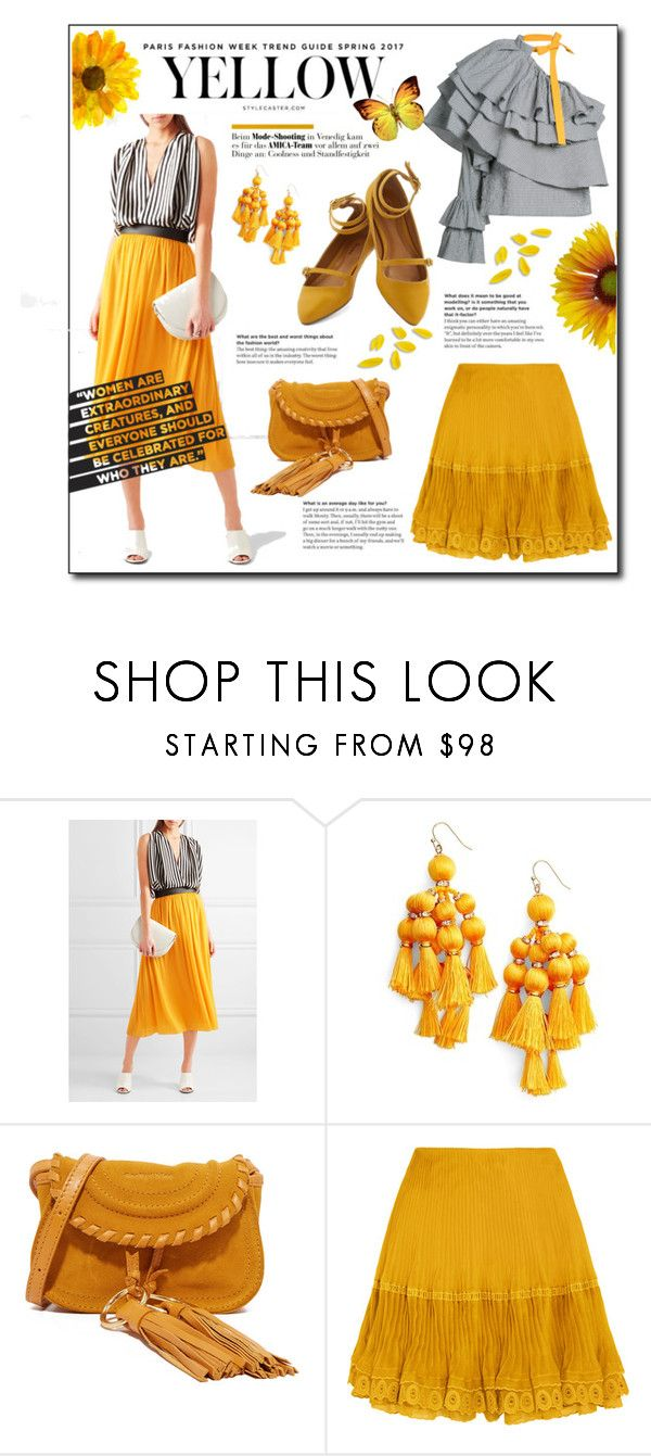 """""""The Sunflowers"""" by atikazahra on Polyvore featuring Emilio Pucci, Kate Spade, See by Chloé, Chloé, Rosie Assoulin, fashionology and Spring2017"""