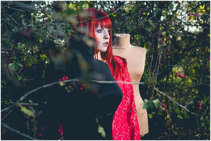 thISme, make-up, fairytale, freckles, colors, redhead, arina varga, rada ureche, monica popmark, sabina mladin, woods, wild, fashion, jacket, coat, red, lace, flowers, mannequin