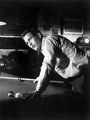 Paul Newman in The Hustler, one of the greatest dark movies of all time.