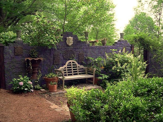 Gothic Garden Decor | Walls, fences or even garage walls provide endless decorating ...