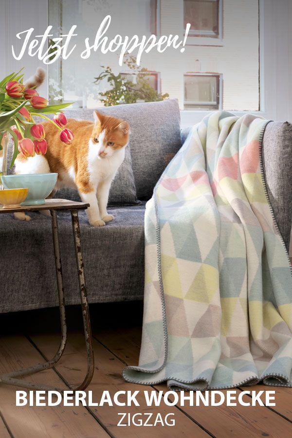 Biederlack Wohndecke Zigzag Gunstig Online Kaufen Bei Bettwaren Shop Decke Wohndecke Wohnen