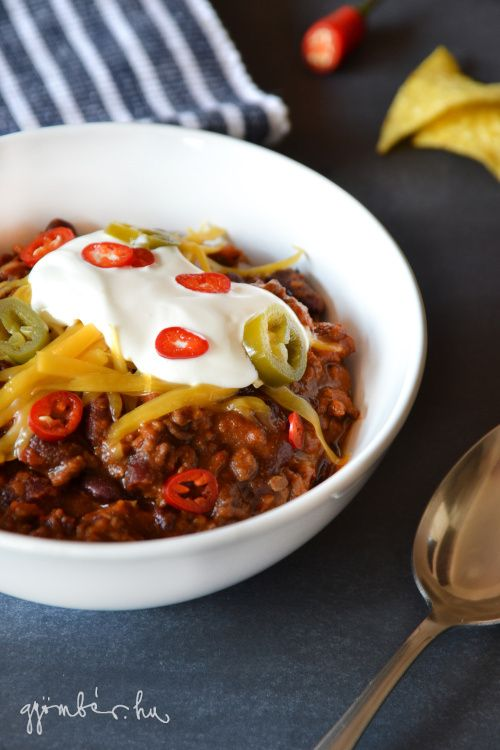 CrockPot chili con carne recipe | A chili, ami 8 órán át főtt  #slowcooker #crockpot #chili