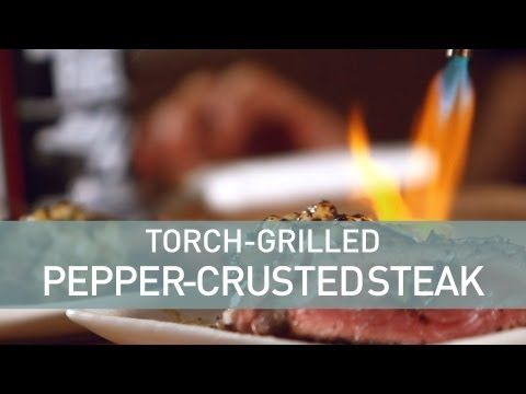 Torch Grilled Pepper Crusted New York Strip Steak | Main Dishes Ideas ...