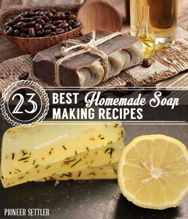23 Best Homemade Soap Making Recipes   Easy and Natural DIY Soaps by Pioneer Settler at http://pioneersettler.com/homemade-soap-making-recipes/