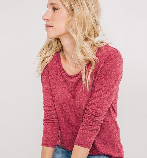 T-shirt damski różowy - Promod