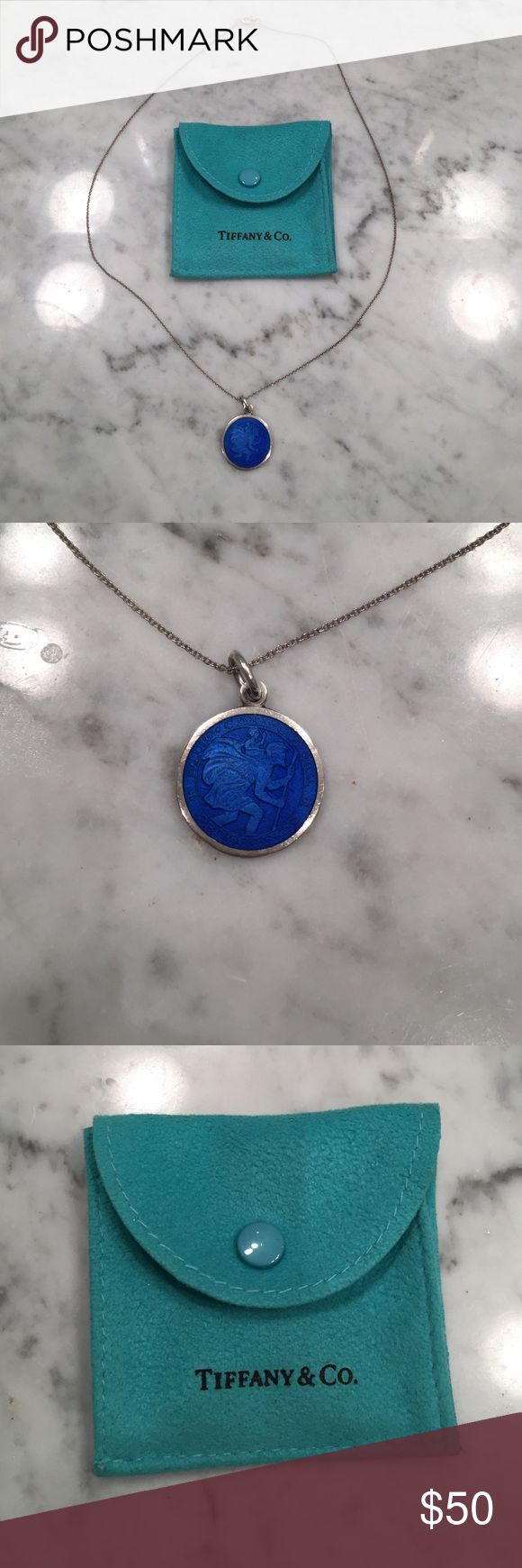 Tiffany & Co Sterling Silver St. Christopher Tiffany & Co Sterling Silver St. Christopher Necklace. Comes with jewelry bag and box. Guaranteed authentic. Tiffany & Co. Jewelry Necklaces