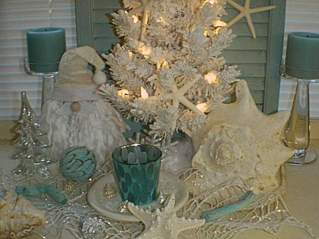 coastal christmas great on a side table