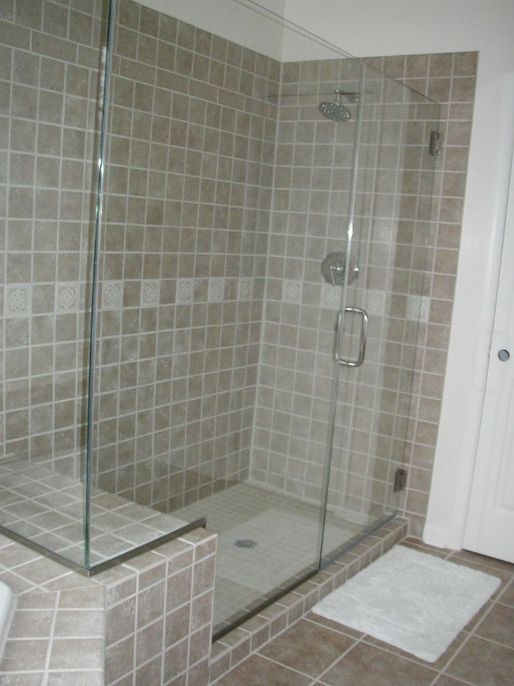 Shower Remodel Cost >> shower bench tile images | Two-person shower with seat ...