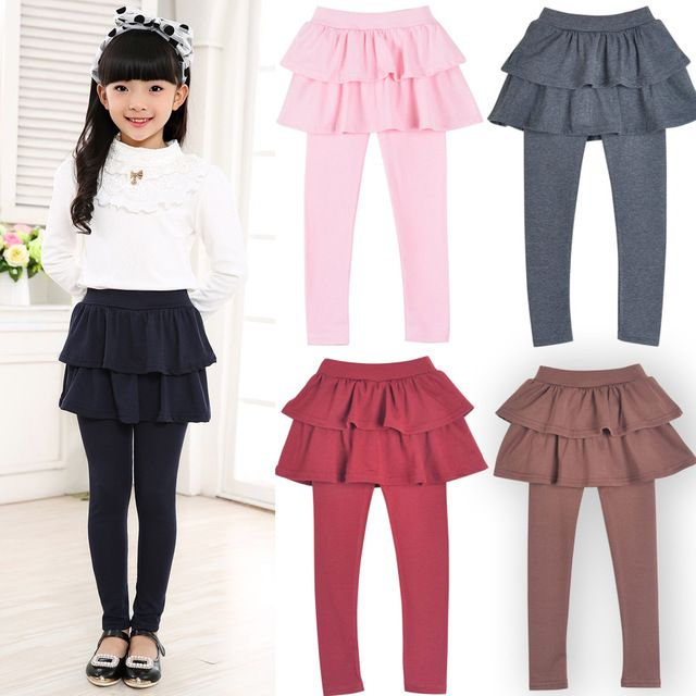 Nuevo llega la primavera al por menor niñas niña pantalones de la falda pastel falda de la muchacha del bebé pantalones niños de las polainas de la falda pantalón Cake Q2306