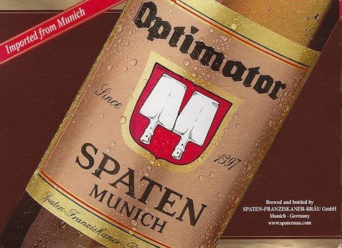 Optimator Spaten-- latin beer labels