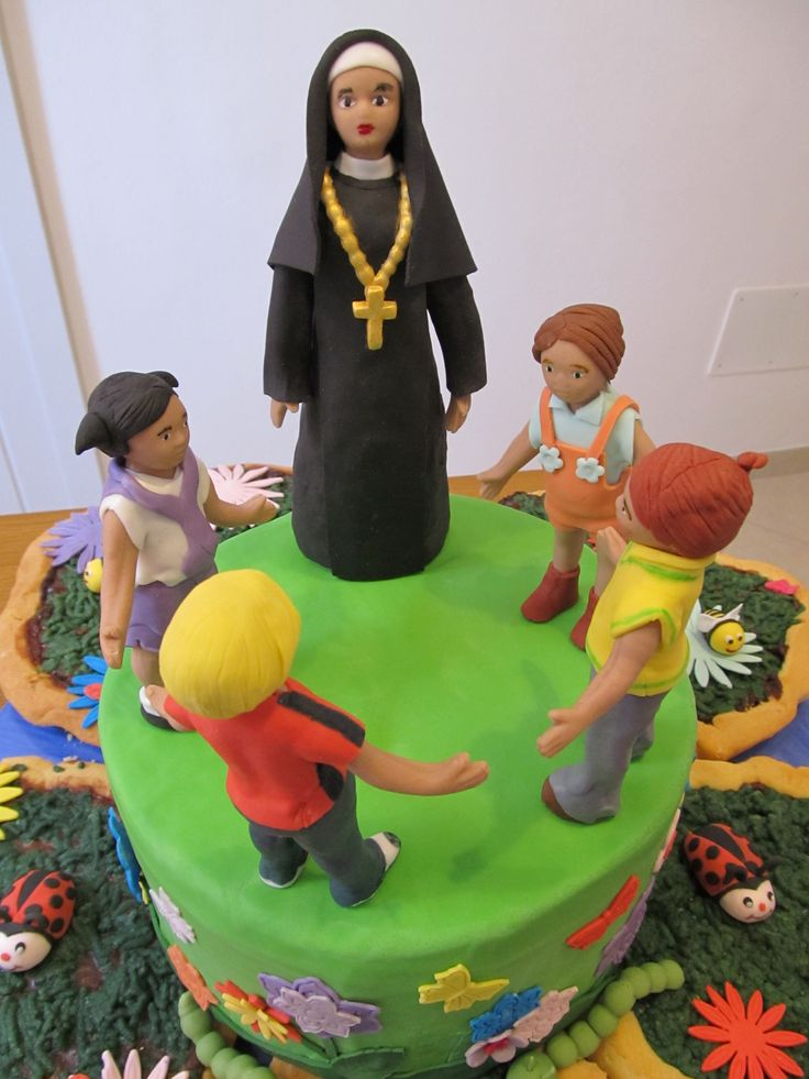 #Cakedesign: #Topper con #bambini e #suora
