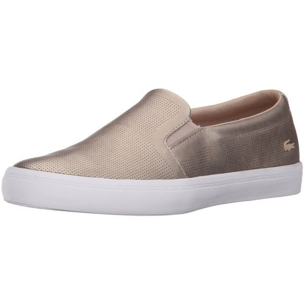 Lacoste Women's Gazon 116 3 Fashion Sneaker (170 NZD) ❤ liked on Polyvore featuring shoes, sneakers, lacoste trainers, elastic shoes, lacoste sneakers, lacoste footwear and lacoste shoes