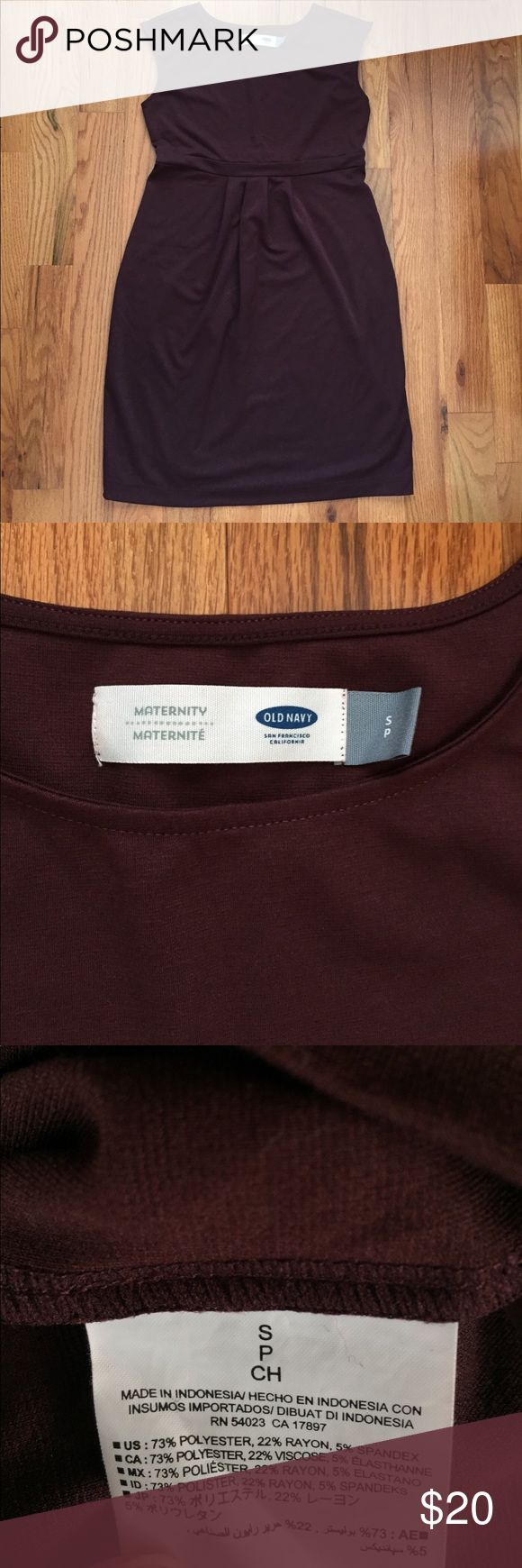 Old Navy Maternity Dress Old Navy Maternity 👗 . This dress can be worn dressed up or casual. The second picture shows the maroon color well. Old Navy Dresses